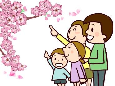 花見 家族で散策