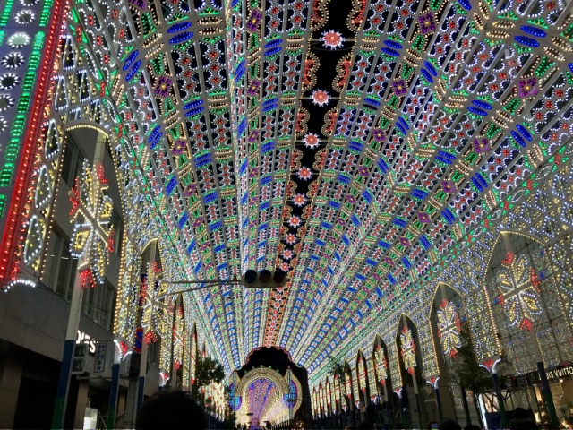 神戸ルミナリエのイルミネーション画像
