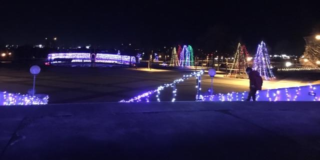南長野運動公園イルミネーションの画像