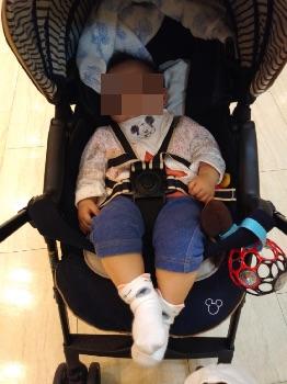 赤ちゃんの夏服(カーディガン+半そで+スパッツ)