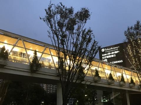 流山おおたかの森駅通路のライトアップ画像