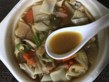 セブンイレブンの煮ぼうとうのスープ