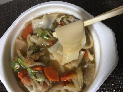 セブンイレブンの煮ぼうとうの麺