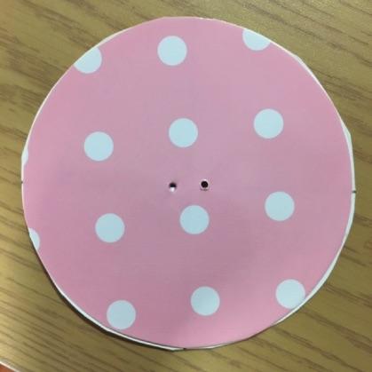 ぶんぶんごま紙皿工作の手順6