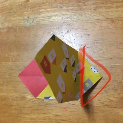 リボン折り紙の手順10