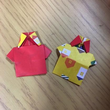 折り紙のシャツ2枚