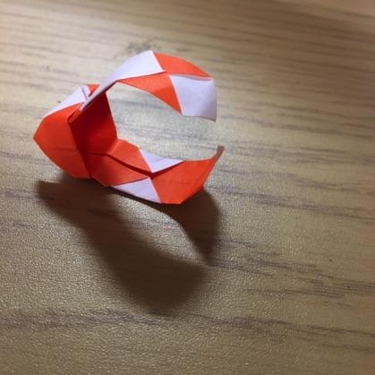 折り紙で指輪の作り方17