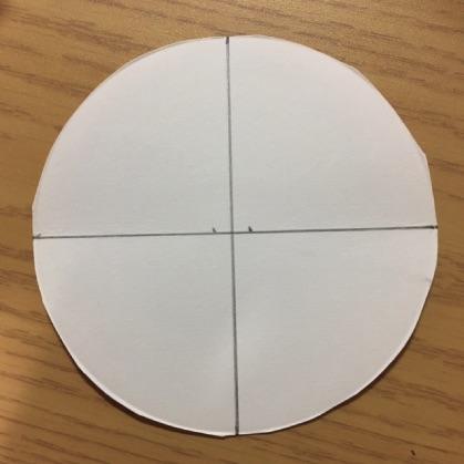 ぶんぶんごま紙皿工作の手順3