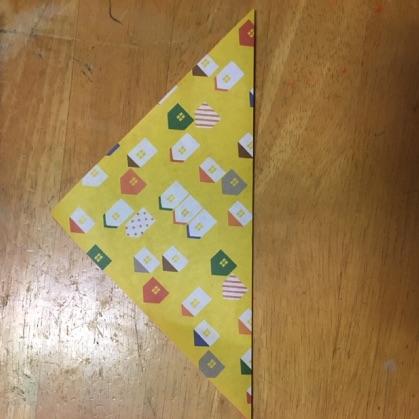 リボン折り紙の手順1