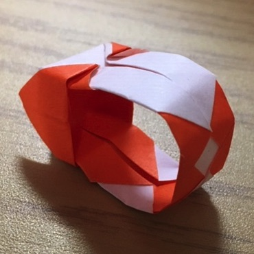 折り紙の指輪