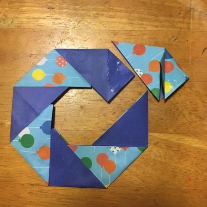 折り紙ドーナツの手順12