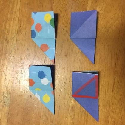 折り紙ドーナツの手順6