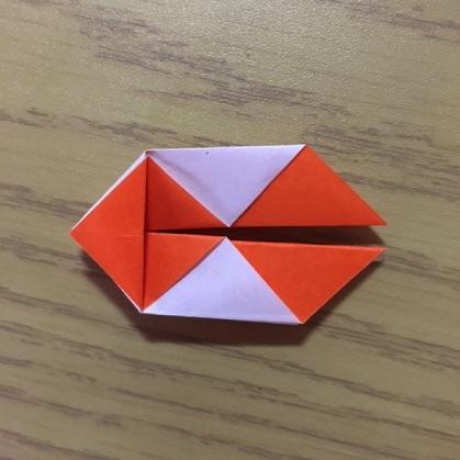 折り紙で指輪の作り方10