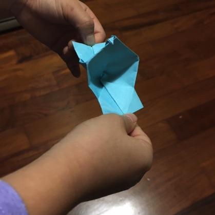 折り紙カメラの遊び方1