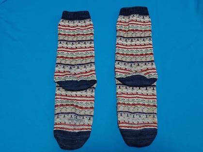 長い靴下のコンパクトなたたみ方1