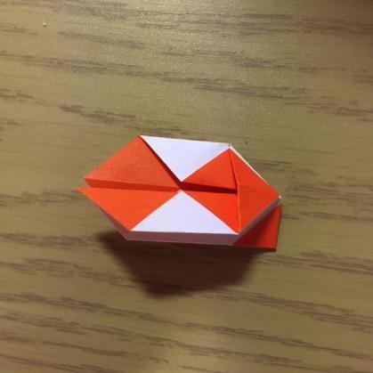 折り紙で指輪の作り方9
