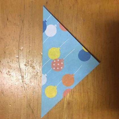 折り紙ドーナツの手順2