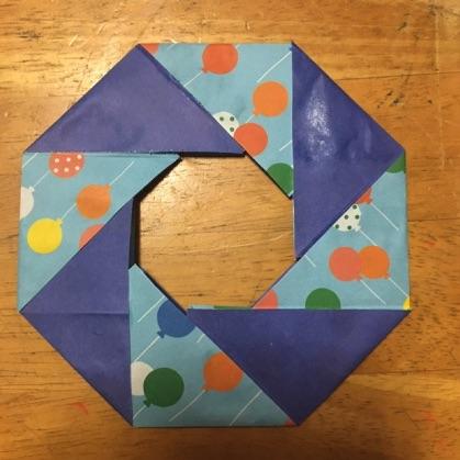 折り紙ドーナツ完成