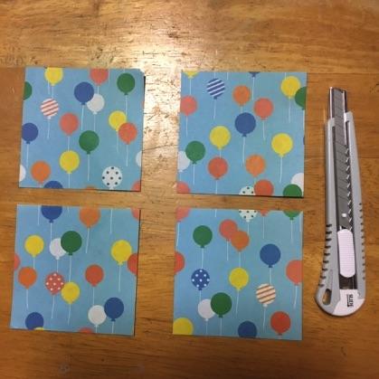 折り紙ドーナツの手順1