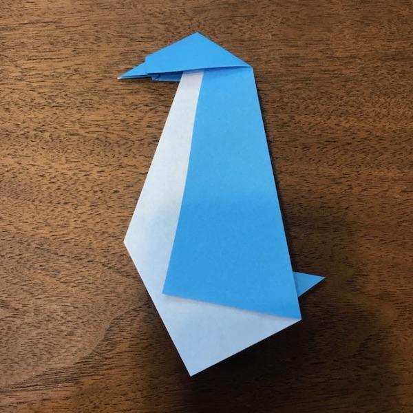 折り紙ペンギン立体の作り方・手順11