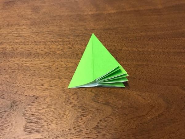 折り紙のツリー立体の簡単な折り方9