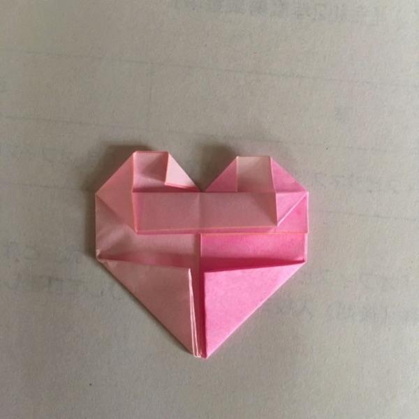 折り紙 2色ハートの折り方12