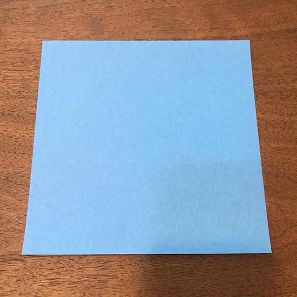 折り紙ペンギン立体の作り方・手順1