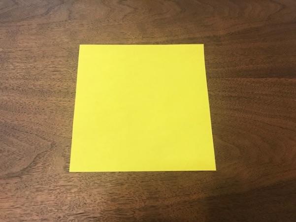 平面の星を作る折り紙1枚