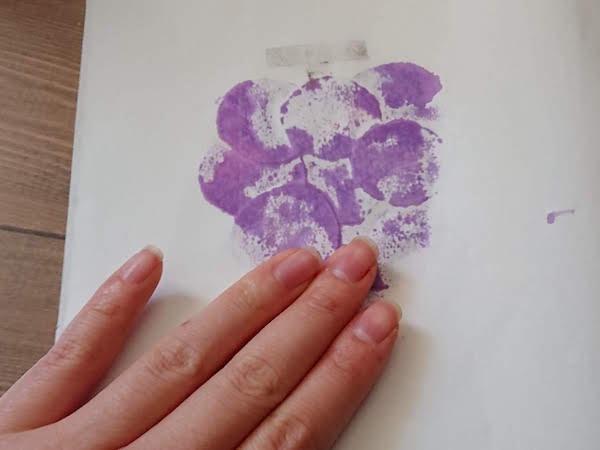 紙版画のやり方モチーフ例・ぶどう