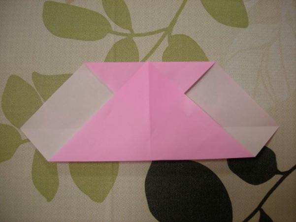 ハートの折り方7