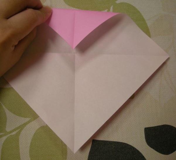 ハートの折り方5