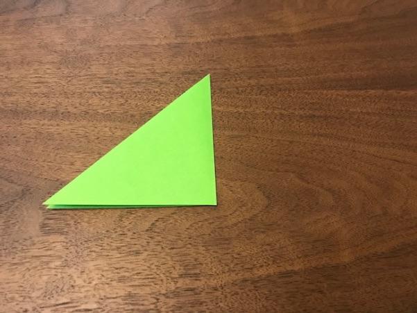 折り紙のツリー立体の簡単な折り方3