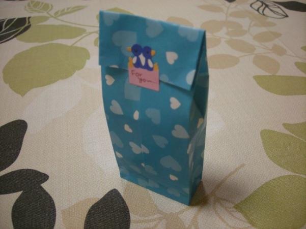 折り紙で作ったギフトバッグ