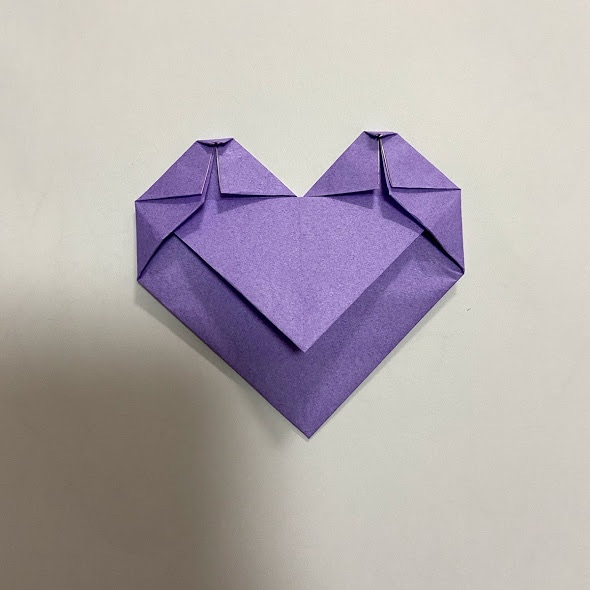 折り紙でハートのお手紙の作り方8