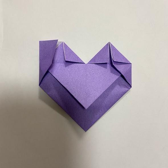 折り紙でハートのお手紙の作り方7