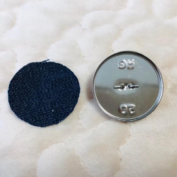 くるみボタンとレジンの作り方・手順2