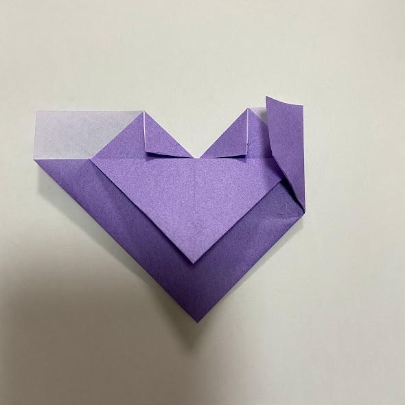 折り紙でハートのお手紙の作り方6