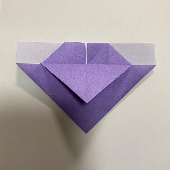 折り紙でハートのお手紙の作り方5