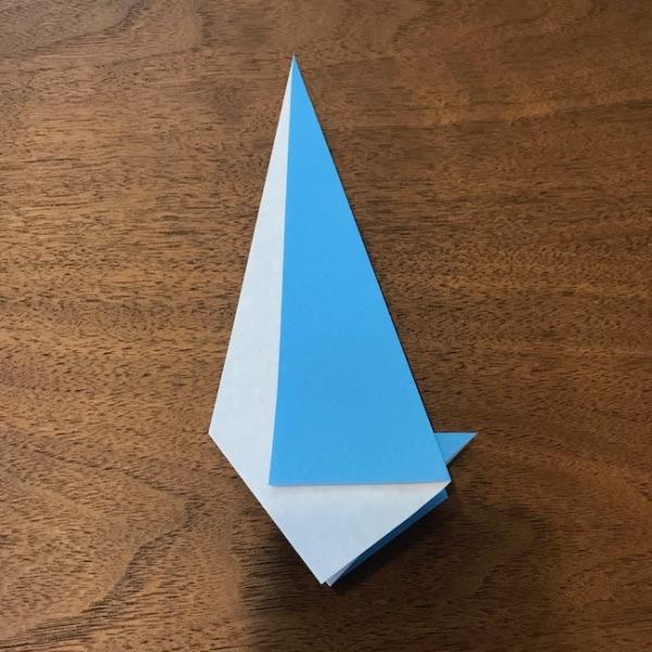 折り紙ペンギン立体の作り方・手順7