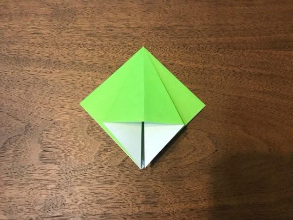折り紙のツリー立体の簡単な折り方6