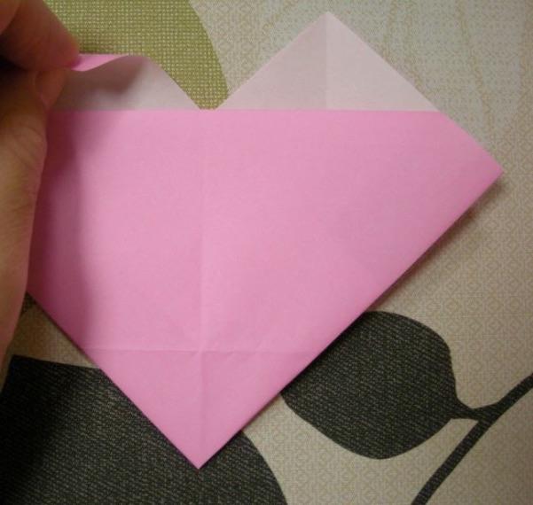 ハートの折り方13