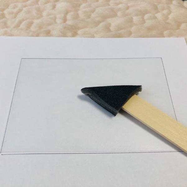 プラバンノンホールピアス作成の手順1