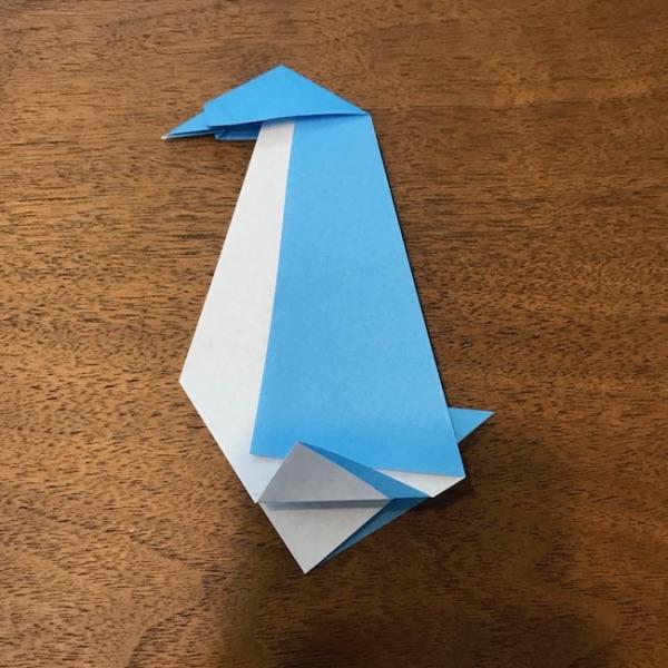 折り紙ペンギン立体の作り方・手順12