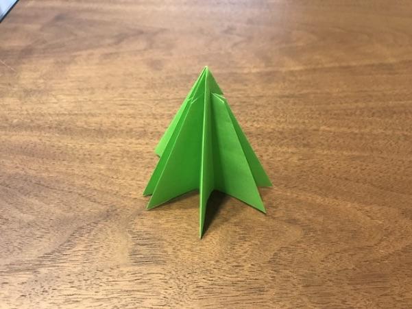 折り紙のツリー立体の簡単な折り方12