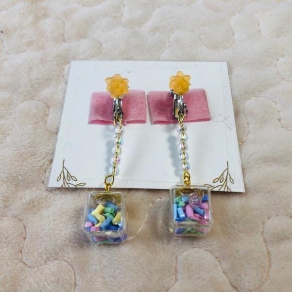 ガラスドームのイヤリングの作り方・手順8