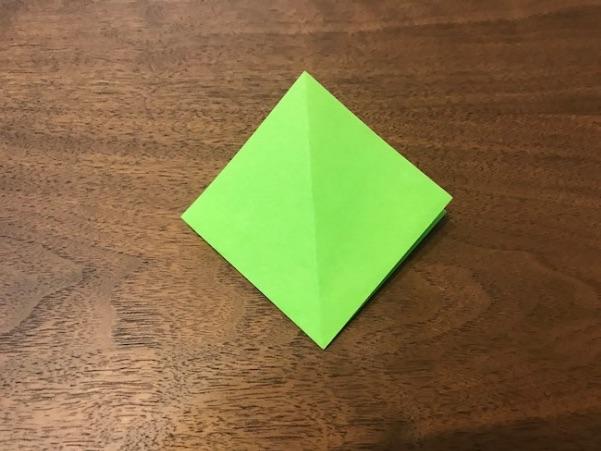折り紙のツリー立体の簡単な折り方4