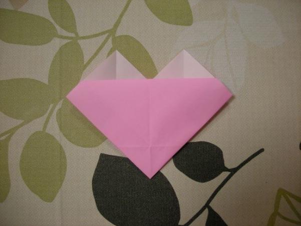 ハートの折り方12