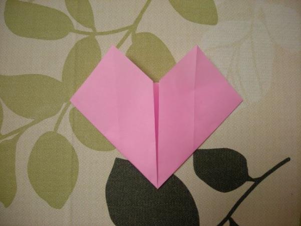 ハートの折り方11
