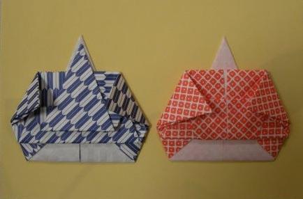 女雛と男雛の折り紙
