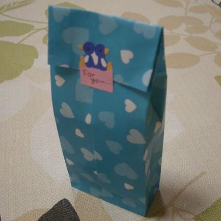 折り紙ギフトバッグでラッピング